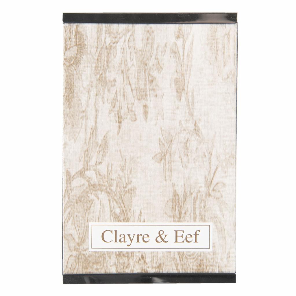 Produktové foto Clayre & Eef Stříbrný kovový fotorámeček Line- 20*25 cm