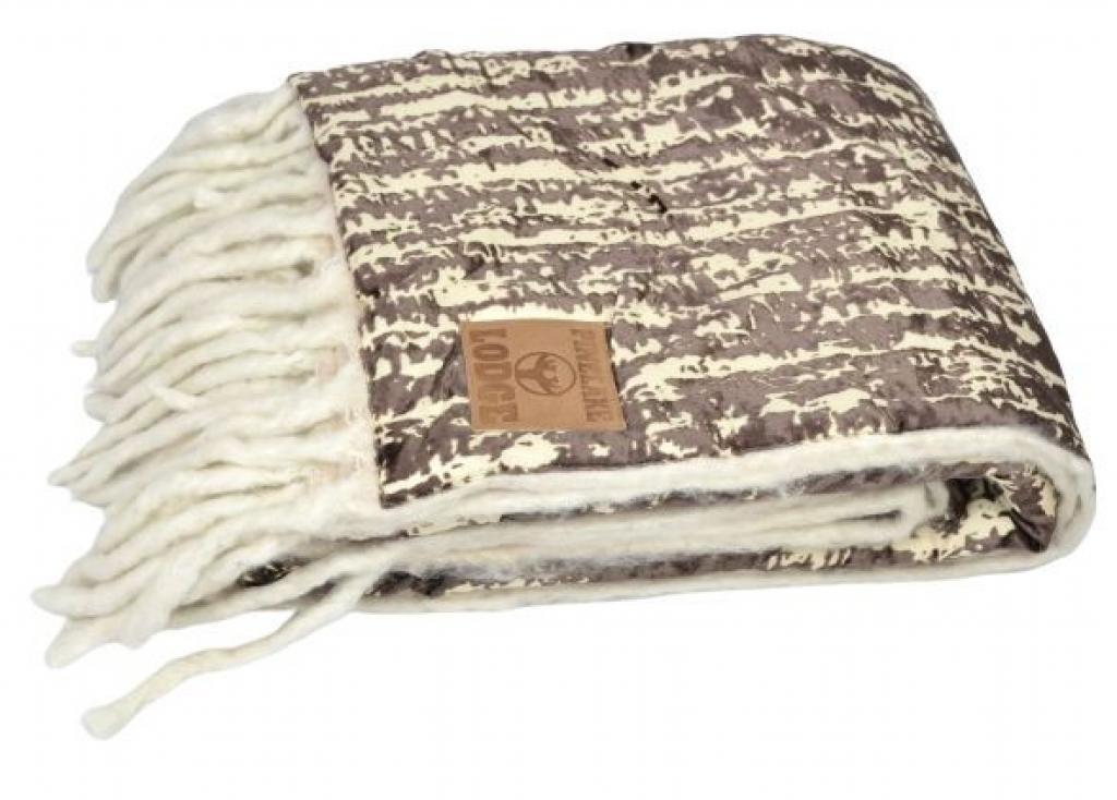 Produktové foto Colmore by Diga Krémovo-hnědý pléd s třásněmi Pinelake - 150*125 cm