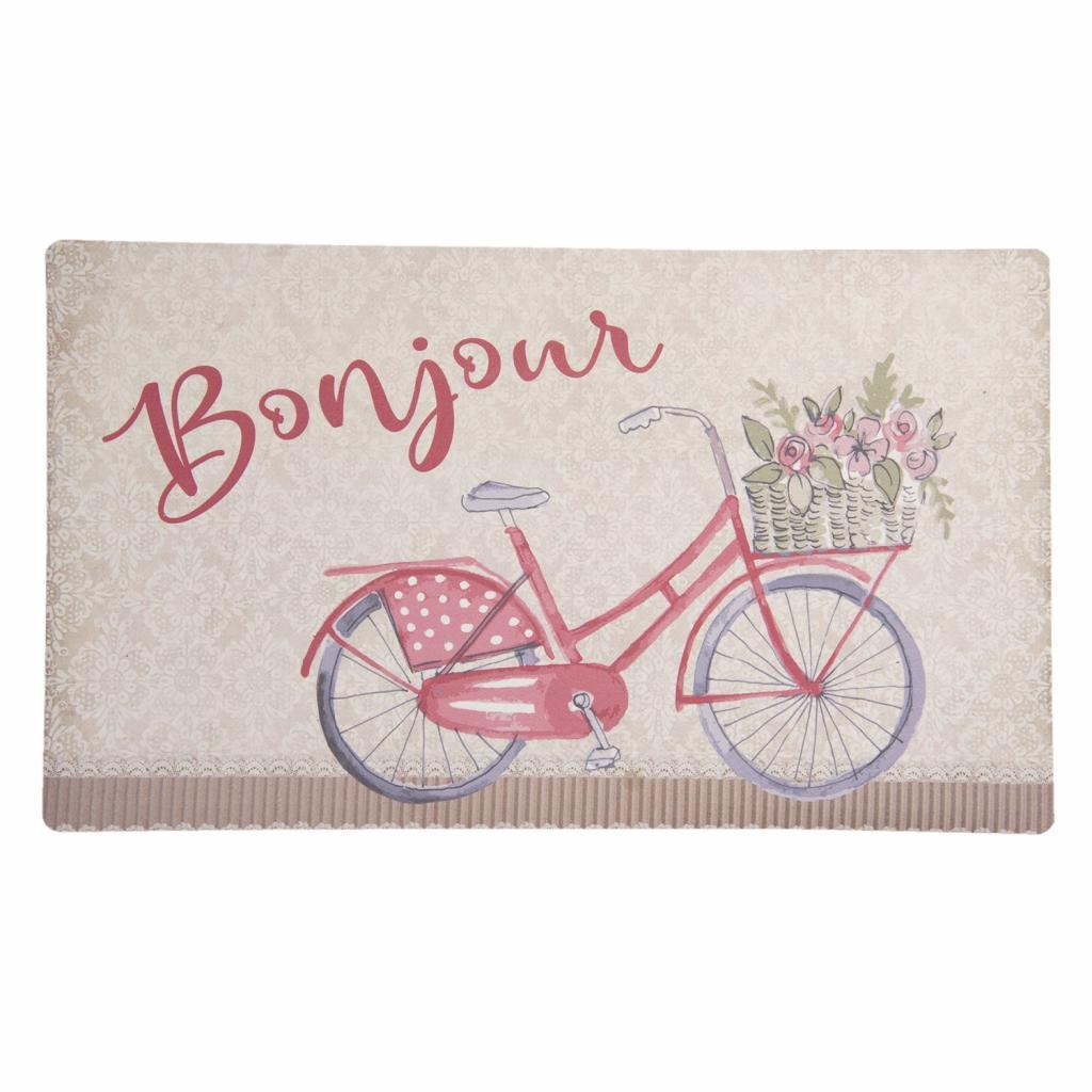 Produktové foto Clayre & Eef Podlahová rohožka s kolem Bonjour - 74*44*1 cm