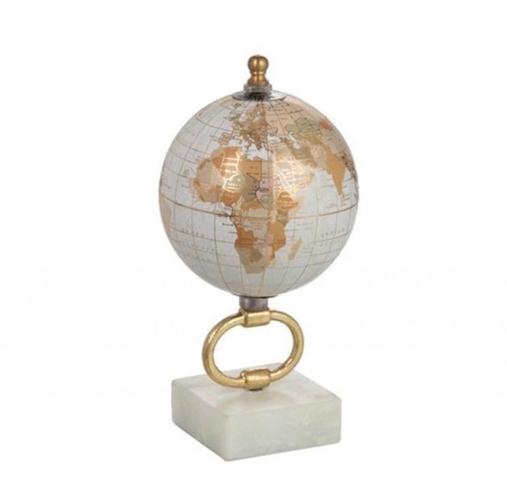Produktové foto J-Line by Jolipa Glóbus na kovové zlaté noze Marble e-small - ∅10*20 cm