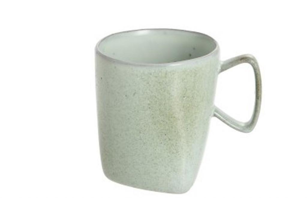 Produktové foto J-Line by Jolipa Zelený porcelánový hrneček Dot mint - ∅ 9*10 cm