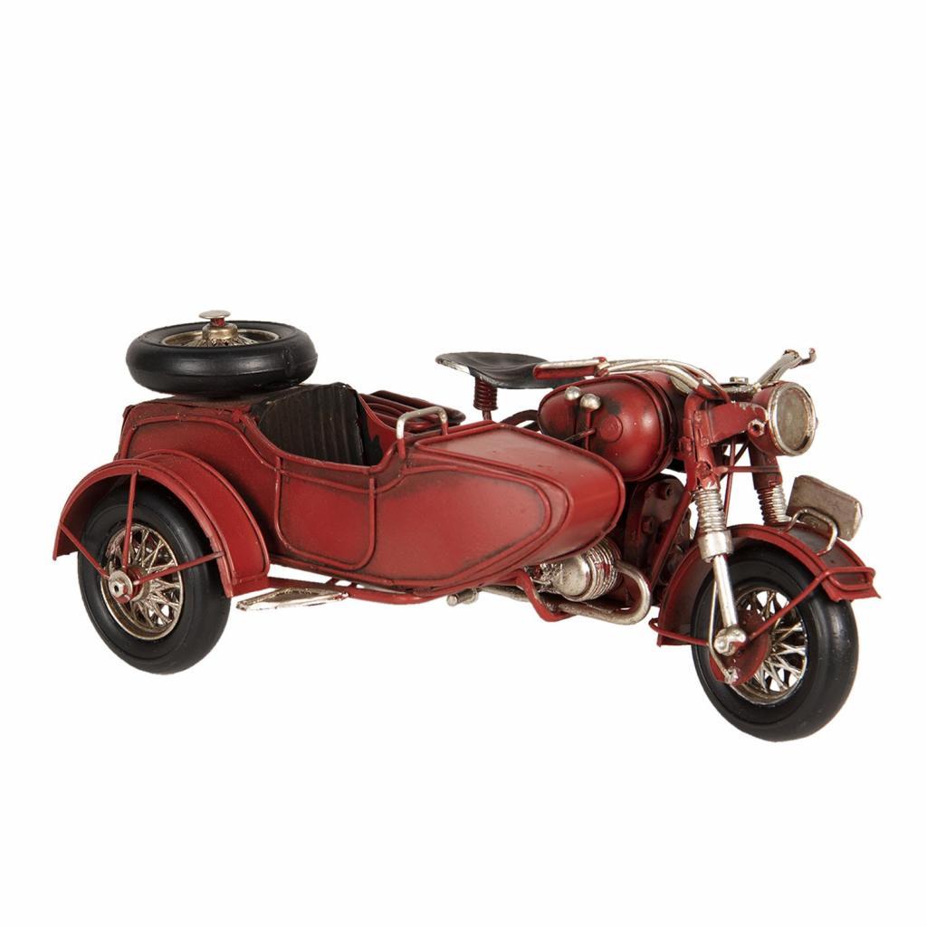 Produktové foto Clayre & Eef Model motocyklu s postranním vozíkem - 19*13*9 cm