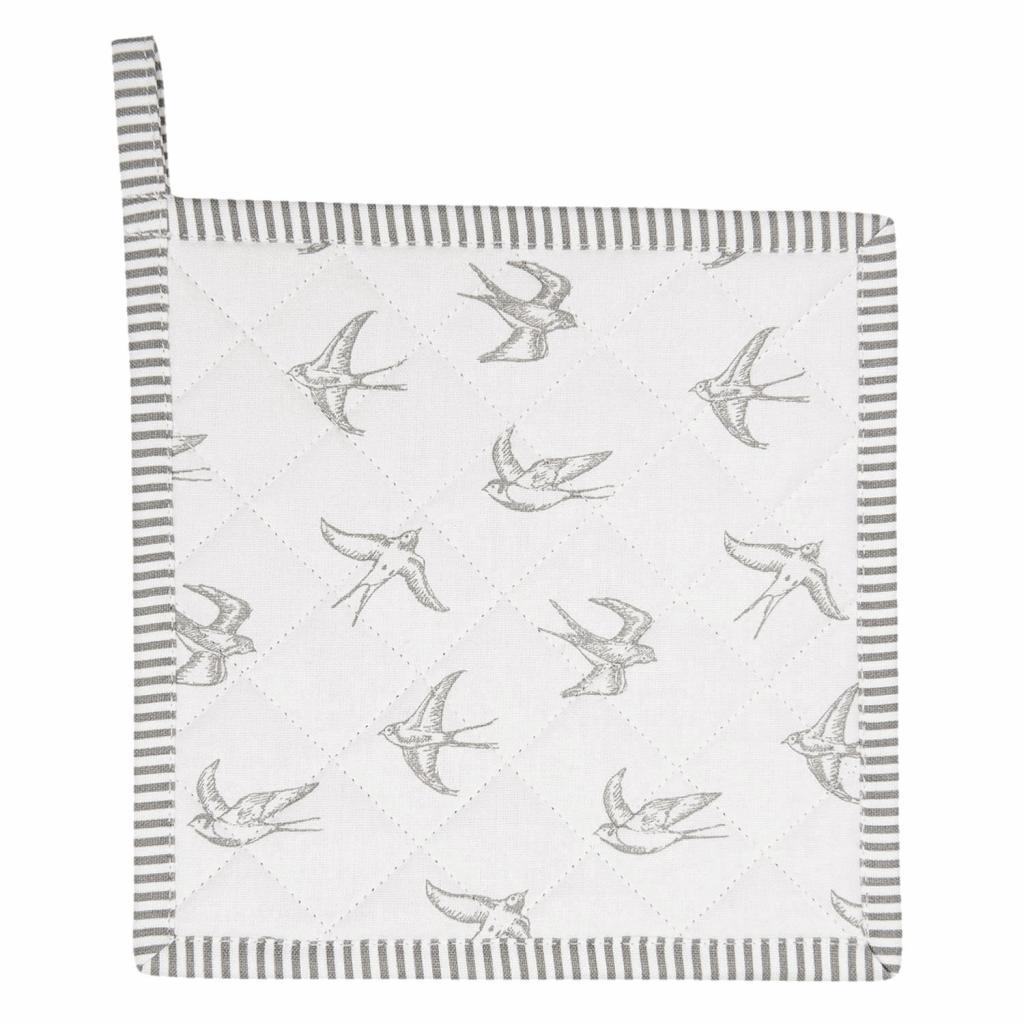 Produktové foto Clayre & Eef Kuchyňská bavlněná chňapka Swallow Sky - 20*20 cm