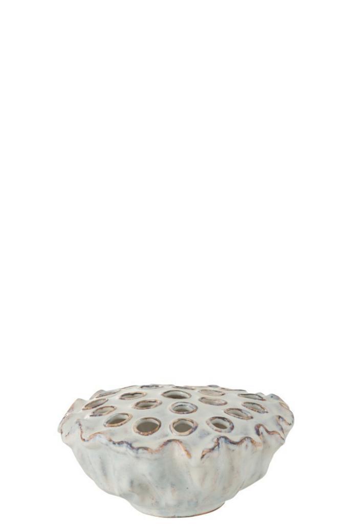 Produktové foto J-Line by Jolipa Keramická dekorace v designu mořské sasanky Anemone - ∅ 26,5*12 cm