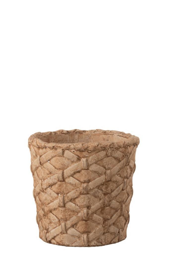 Produktové foto J-Line by Jolipa Hnědý betonový kvetináč Loic L  - Ø  15*14,3 cm