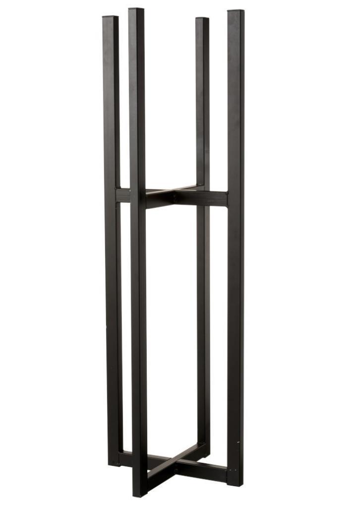 Produktové foto J-Line by Jolipa Černý kovový stojan na květináč XL  - 31,8*95,2 cm