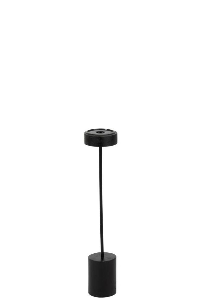 Produktové foto J-Line by Jolipa Dřevěný černý svícen  Mango L - Ø 9*53 cm