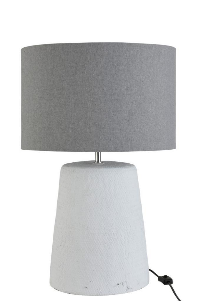 Produktové foto J-Line by Jolipa Stolní lampa v šedo-bílé kombinaci Abelle L - Ø 42*64 cm