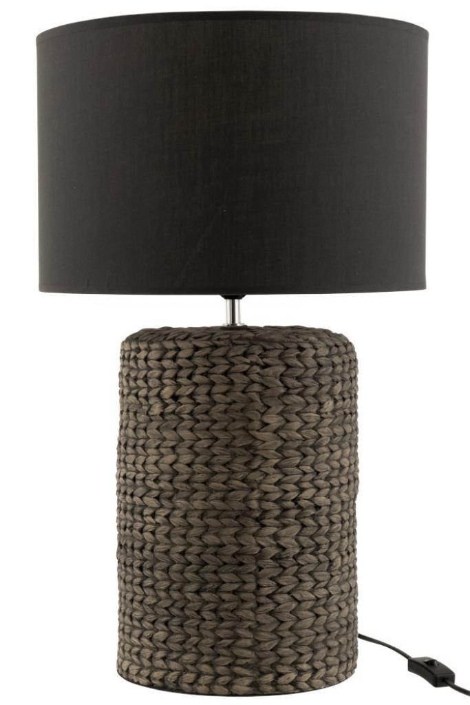 Produktové foto J-Line by Jolipa Stolní lampa s textilním stínidlem Odile L – Ø 42*68 cm