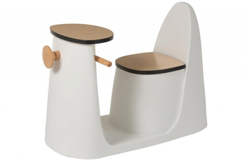 Produktové foto J-Line by Jolipa Set dřevěné dětské židličky se stolkem Ludivine - 78*49,5*59 cm