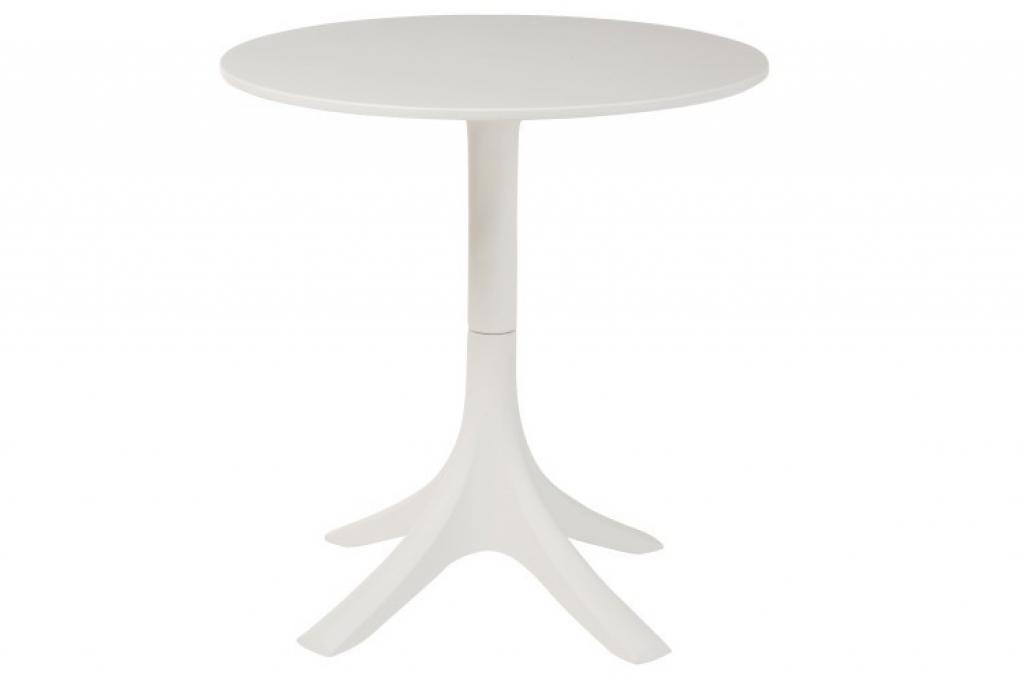 Produktové foto J-Line by Jolipa Bílý kulatý stůl Ludivine - Ø 70*75 cm