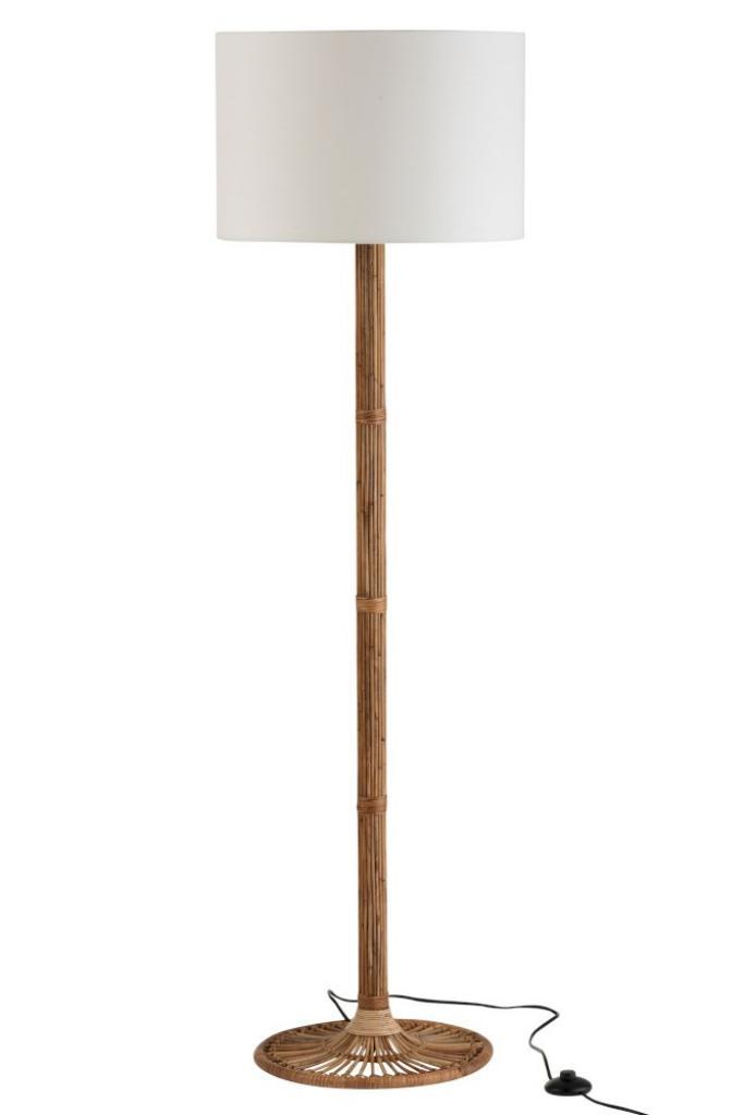 Produktové foto J-Line by Jolipa Stojací lampa s ratanovou nohou Naia - Ø 45*155 cm