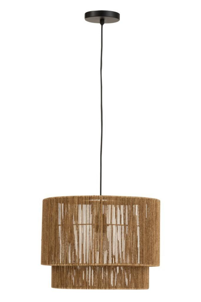Produktové foto J-Line by Jolipa Závěsné světlo s provázkovým stínidlem Solange - Ø 40*110 cm