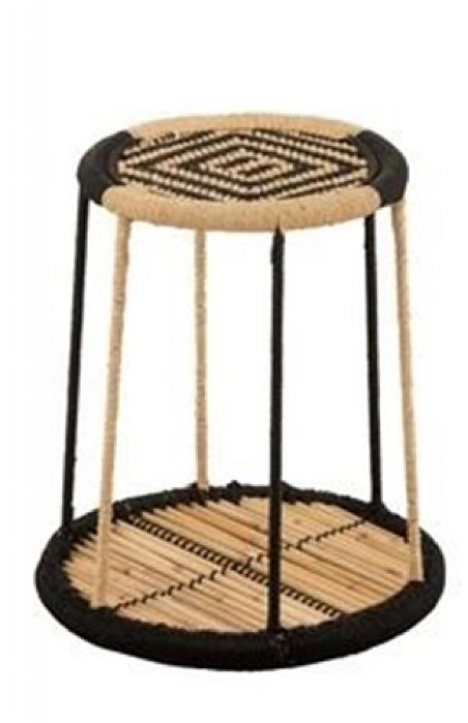 Produktové foto J-Line by Jolipa Oboustranný bambusový odkládací stolek Gigi - Ø 38*39 cm