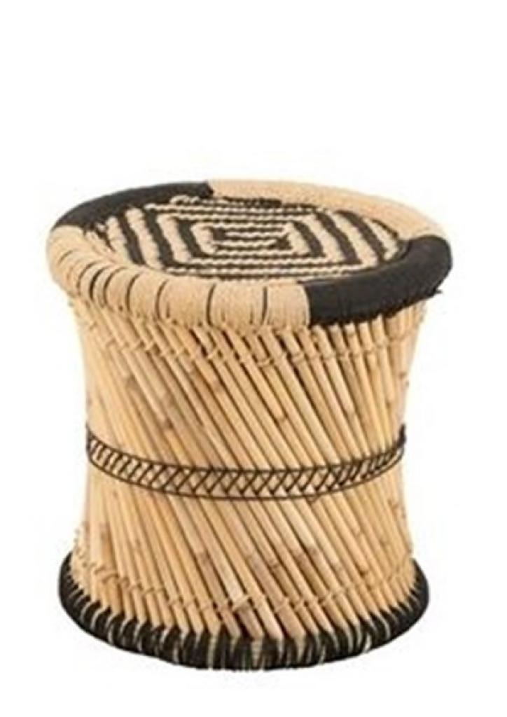Produktové foto J-Line by Jolipa Bambusová stolička se vzorem Gigi - Ø 40*40 cm