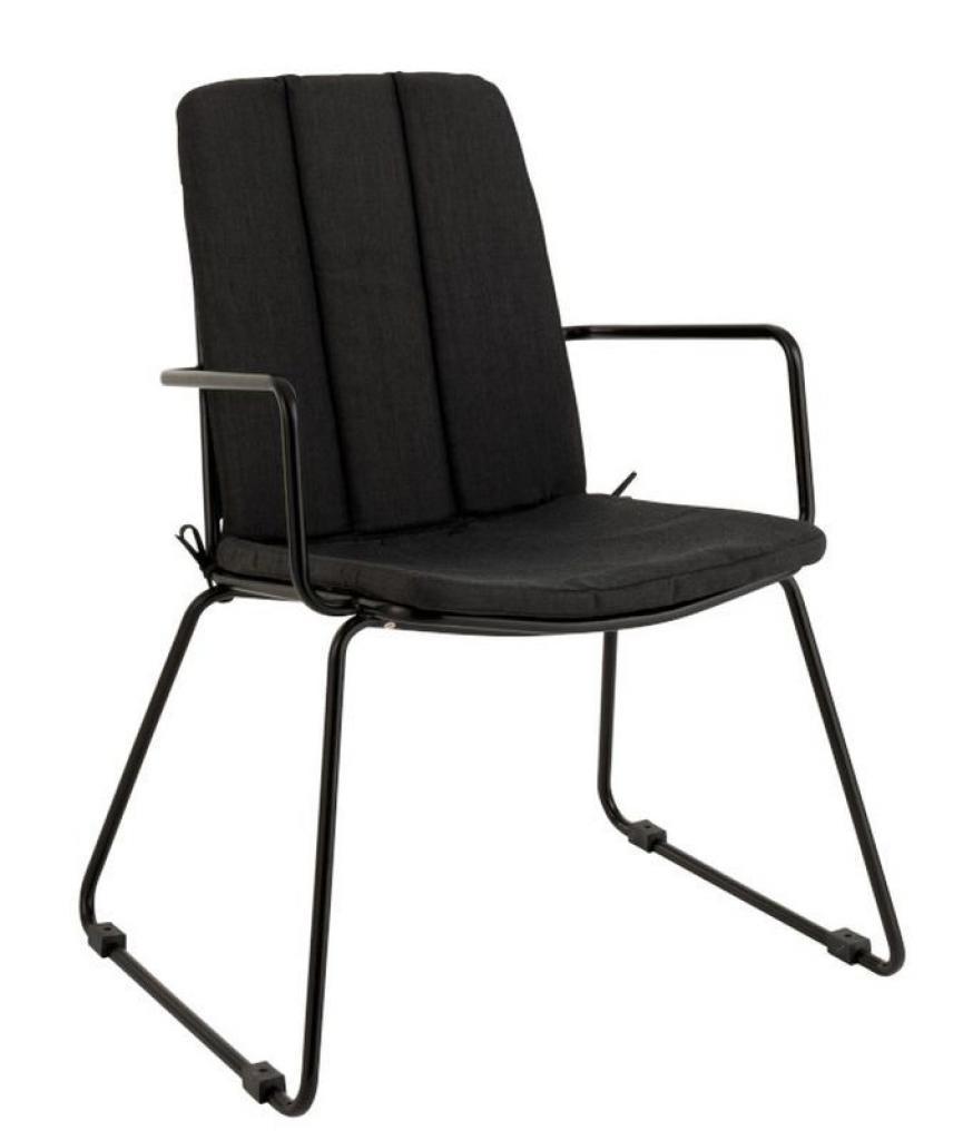 Produktové foto J-Line by Jolipa Černá kovová židle se sedákem Valou - 59,5*61,5*86 cm