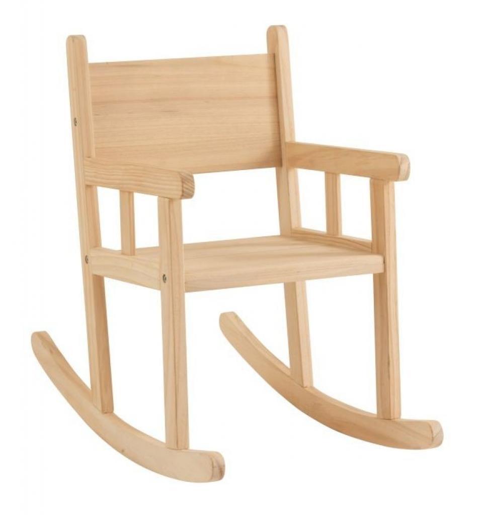 Produktové foto J-Line by Jolipa Dětské dřevěné houpací křeslo Rocking - 34,5*65*58 cm