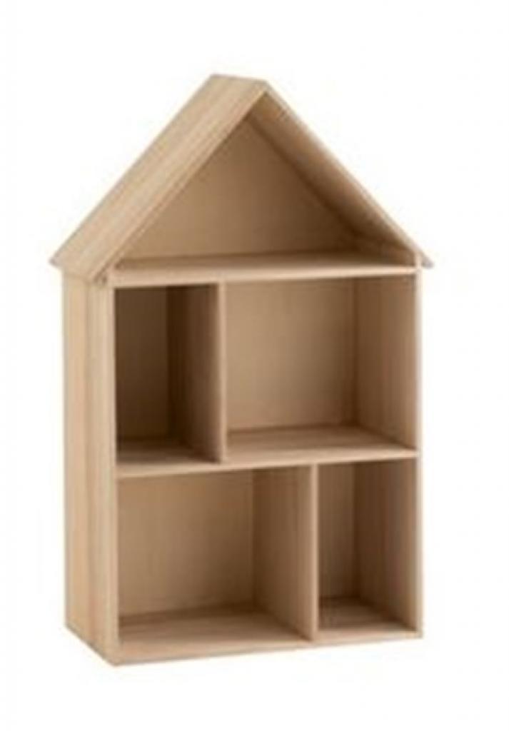 Produktové foto J-Line by Jolipa Dětská polička na hračky ve tvaru domku Fleurette - 50*25,5*79,5 cm