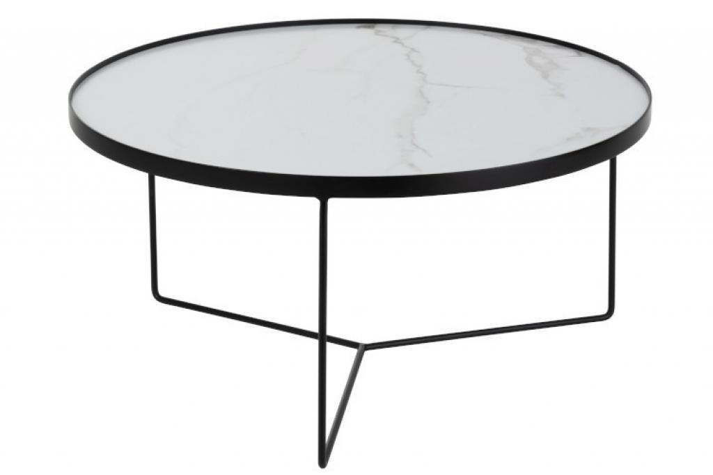 Produktové foto J-Line by Jolipa Konferenční stolek v marble designu Helaine - Ø 80*40 cm