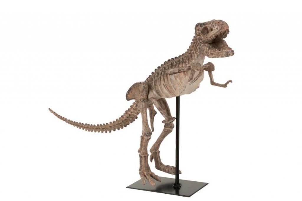 Produktové foto J-Line by Jolipa Dekorace dinosaurus T-rex na kovové noze - 47,5*15*36 cm