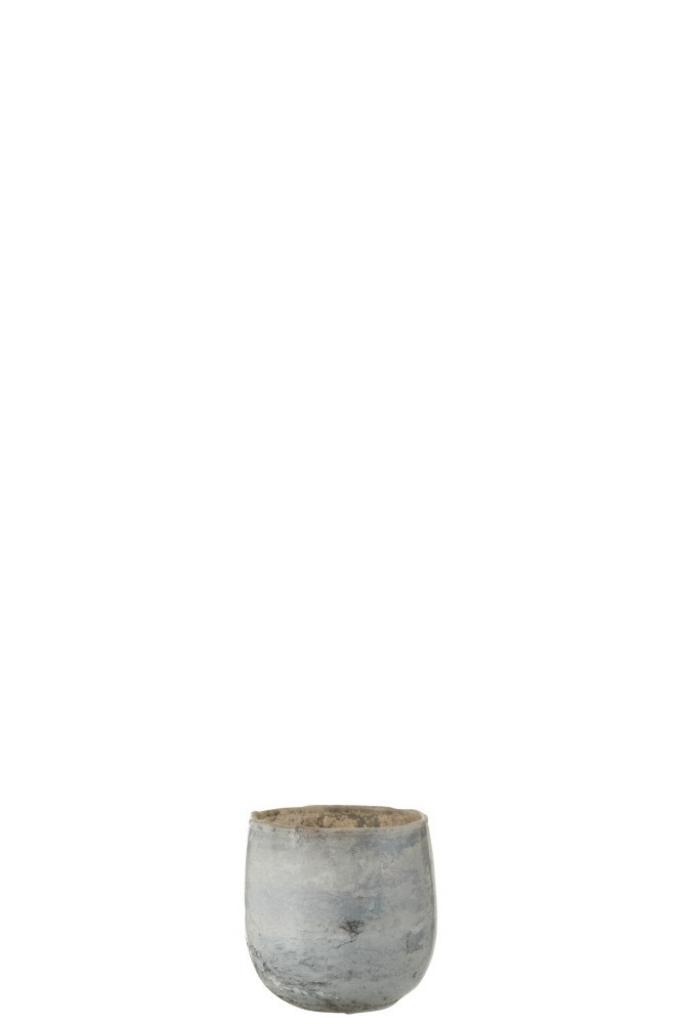 Produktové foto J-Line by Jolipa Šedý skleněný svícen Lea na čajovou svíčku - 8,5*8,5*8,5 cm