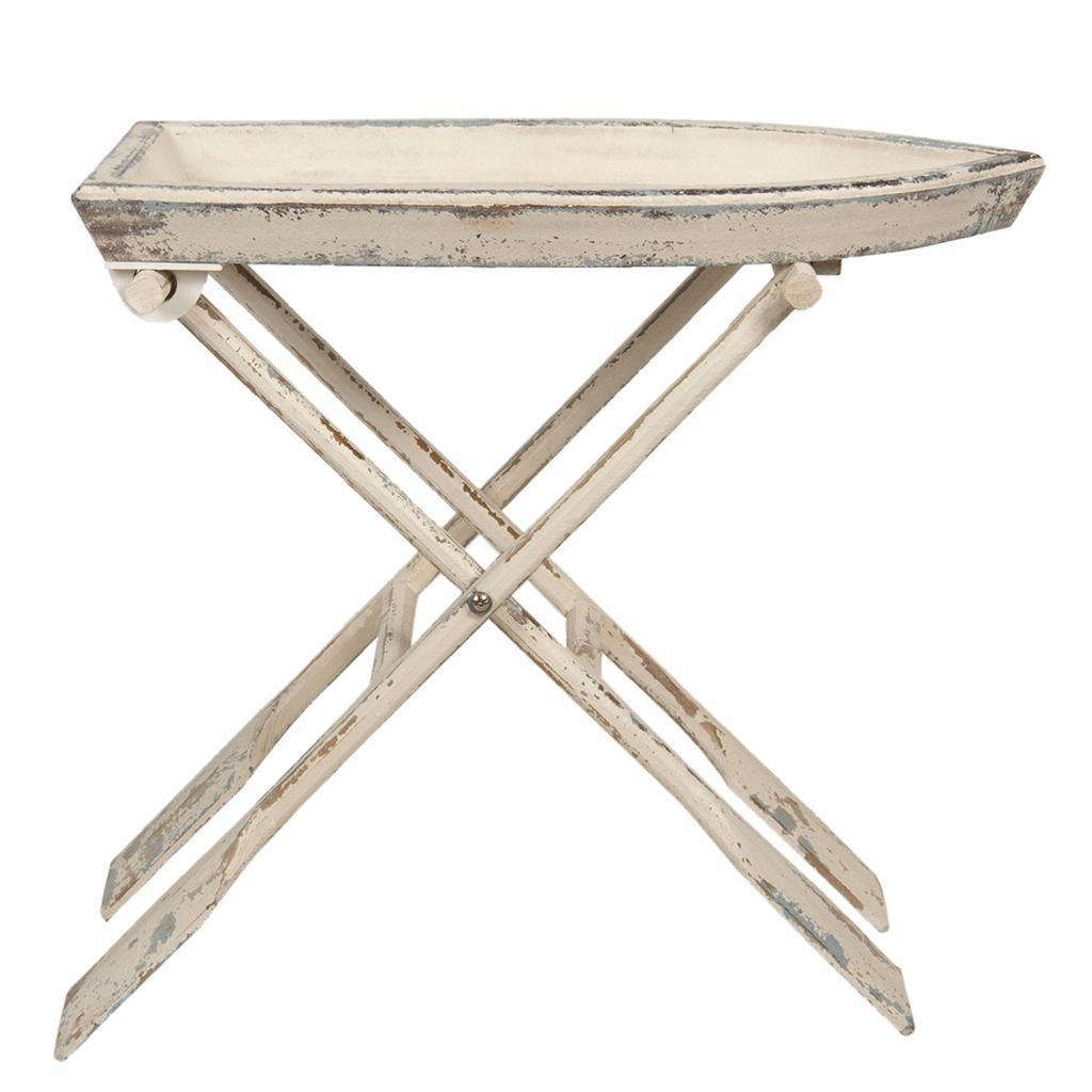 Produktové foto Clayre & Eef Rozkládací dřevěný stůl v designu pramice s pádly - 70*39*64 cm