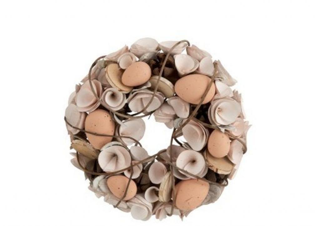Produktové foto J-Line by Jolipa Velikonoční věnec s vajíčky Eggs - Ø 24*8 cm