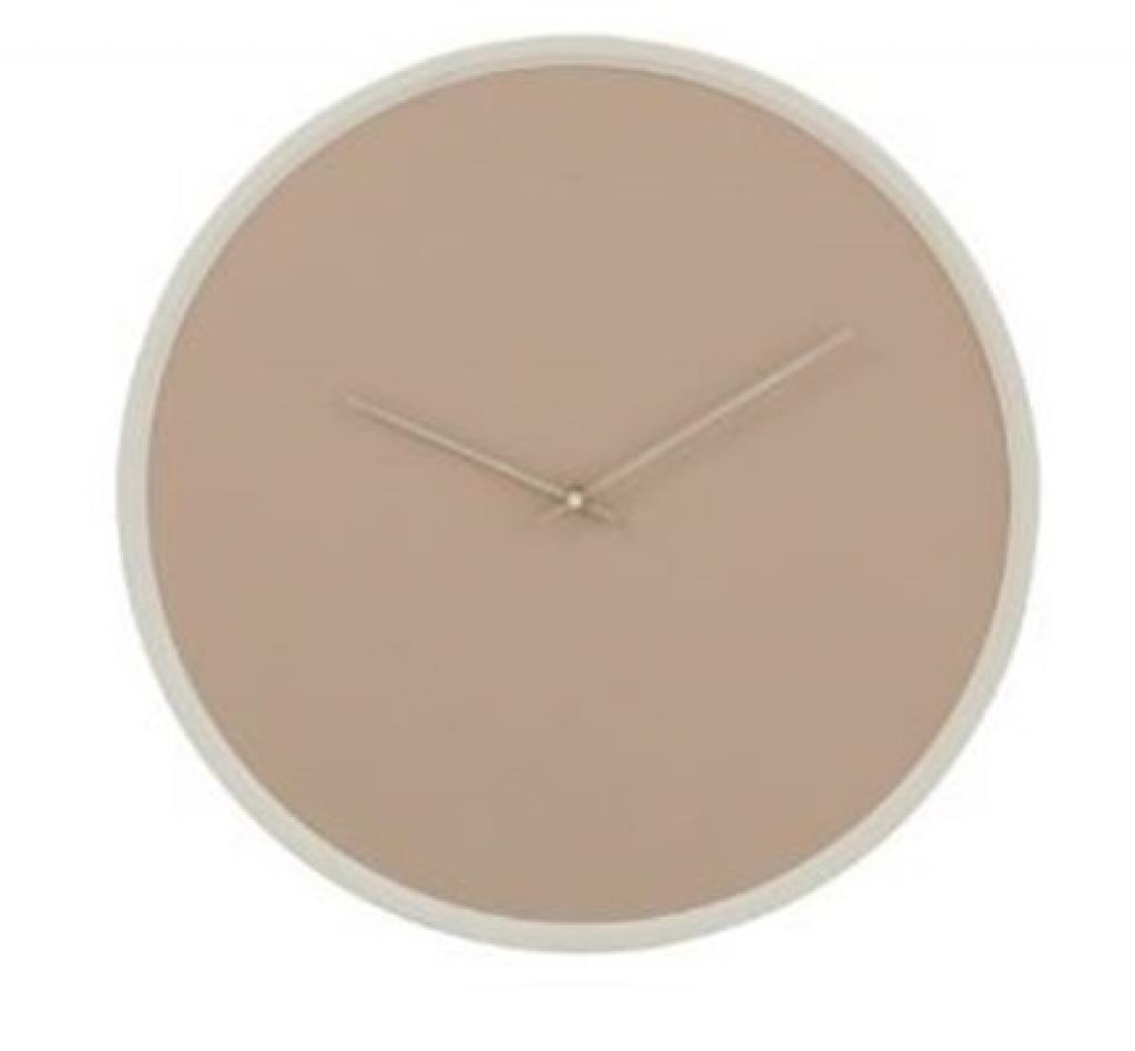 Produktové foto J-Line by Jolipa Béžové nástěnné hodiny Perrine S - Ø 30*4 cm