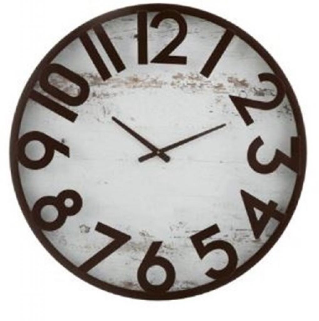 Produktové foto J-Line by Jolipa Nástěnné hodiny s patinou Ginette - Ø 68*5,5 cm