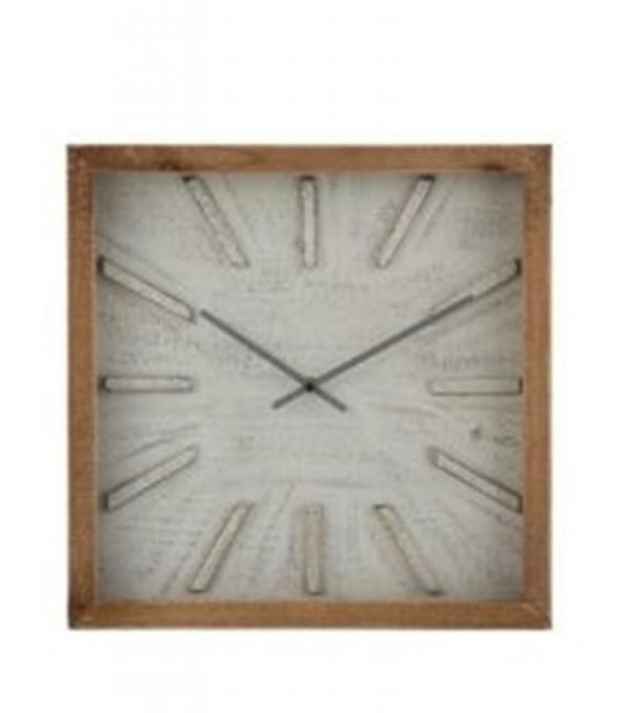 Produktové foto J-Line by Jolipa Čtvercové nástěnné hodiny s patinou Ygraine - Ø 40*6 cm