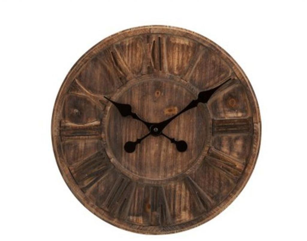 Produktové foto J-Line by Jolipa Nástěnné hodiny s římskými číslicemi Placide - Ø 40*5 cm