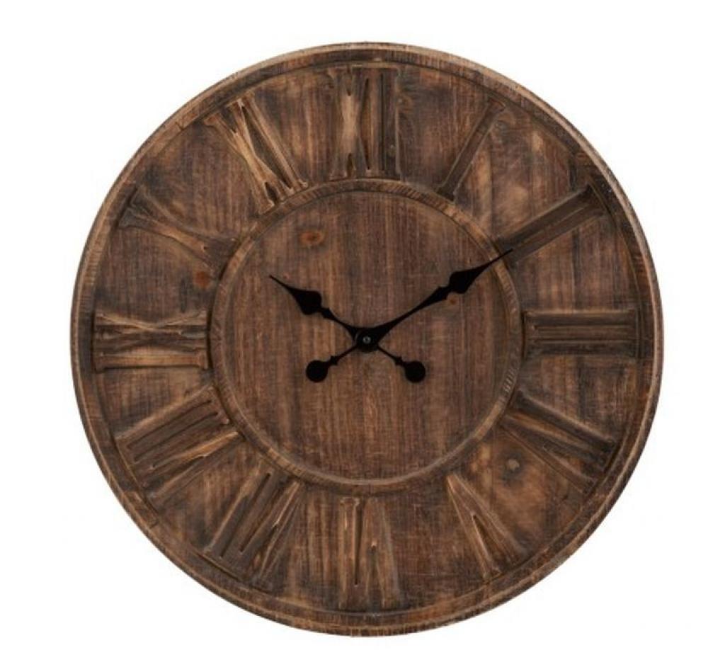 Produktové foto J-Line by Jolipa Velké nástěnné hodiny s římskými číslicemi Placide - Ø 60*5 cm