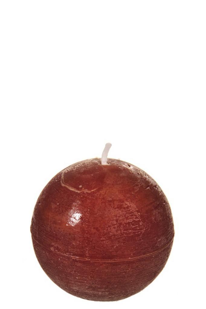 Produktové foto J-Line by Jolipa Kulatá nevonná oranžovo hnědá svíčka  RUST S - Ø 6,5*6,5 cm