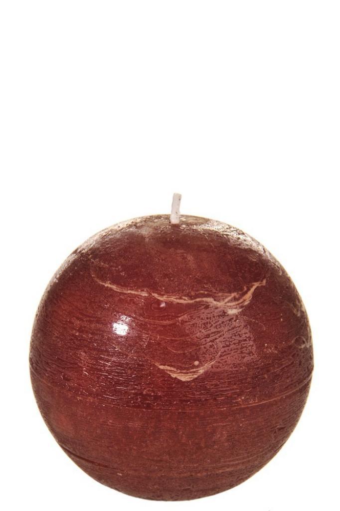 Produktové foto J-Line by Jolipa Kulatá nevonná oranžovo hnědá svíčka  RUST L - Ø  8,5*8,5 cm/40H