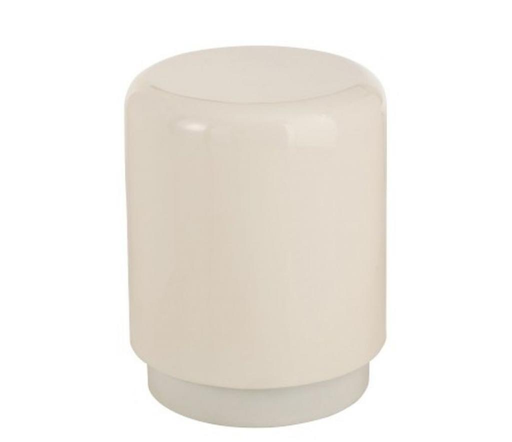 Produktové foto J-Line by Jolipa Bílá kovová stolička Lacquer white - Ø 35*45 cm