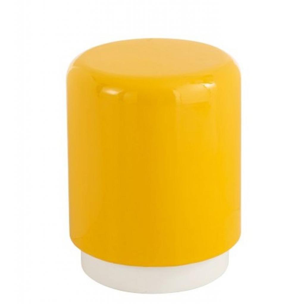 Produktové foto J-Line by Jolipa Žlutá kovová stolička Lacquer yellow - Ø 35*45 cm