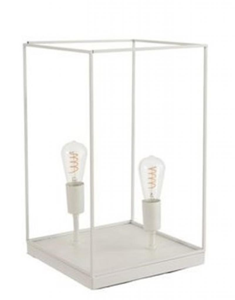 Produktové foto J-Line by Jolipa Lampa z bílého kovového rámu Tilde L - Ø 30,5*51 cm