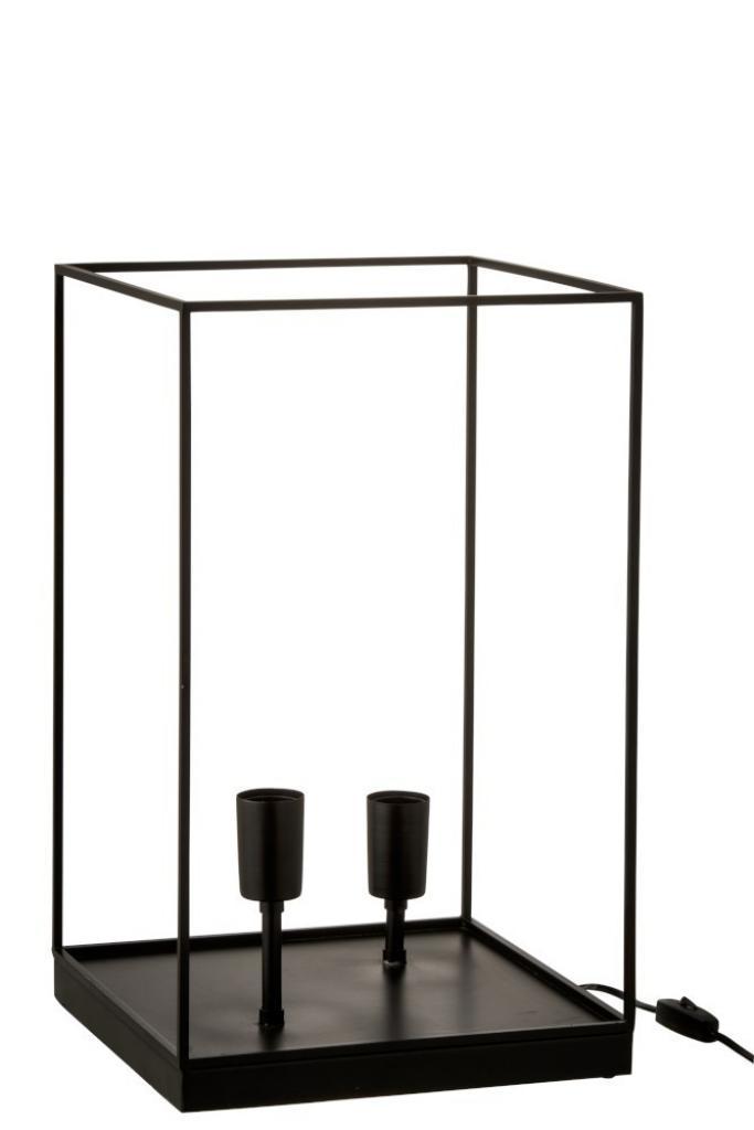 Produktové foto J-Line by Jolipa Lampa z černého kovového rámu Tilde L - Ø 30,5*50,5 cm