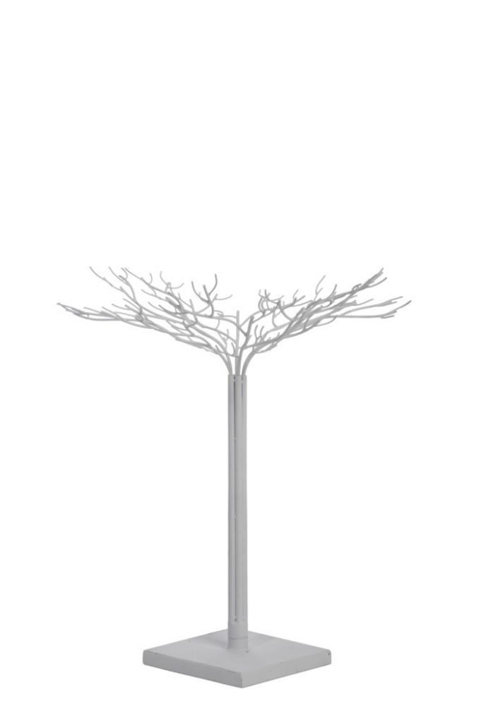 Produktové foto J-Line by Jolipa Bílý kovový dekorativní strom Leonois S - Ø 51*64 cm