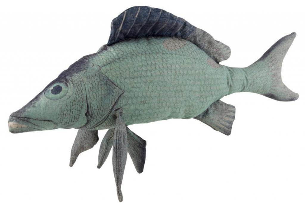 Produktové foto J-Line by Jolipa Modrý polštář ryba Fish Paul - 93*28*40 cm