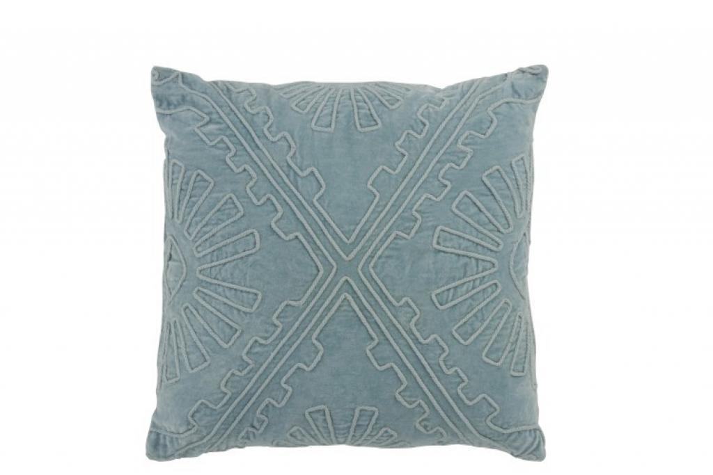 Produktové foto J-Line by Jolipa Světle modrý polštář s výplní Aztec - 45*45 cm