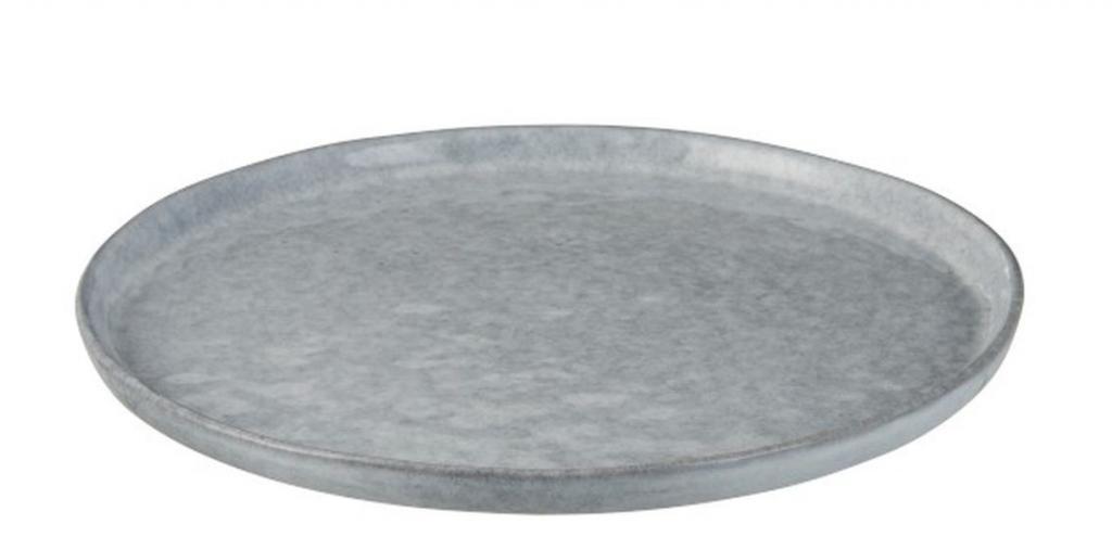 Produktové foto J-Line by Jolipa Modrý keramický dezertní talířek Shiny blue - Ø22 cm