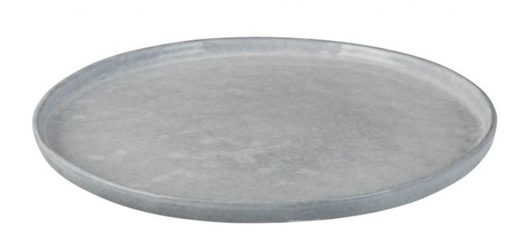 Produktové foto J-Line by Jolipa Modrý keramický jídelní talíř  Shiny blue - Ø 28 cm