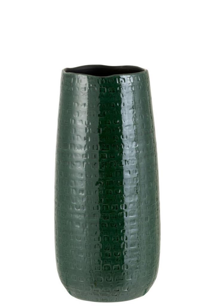 Produktové foto J-Line by Jolipa Tmavě zelená keramická váha se vzorem Seraphine S - 15*19*40 cm