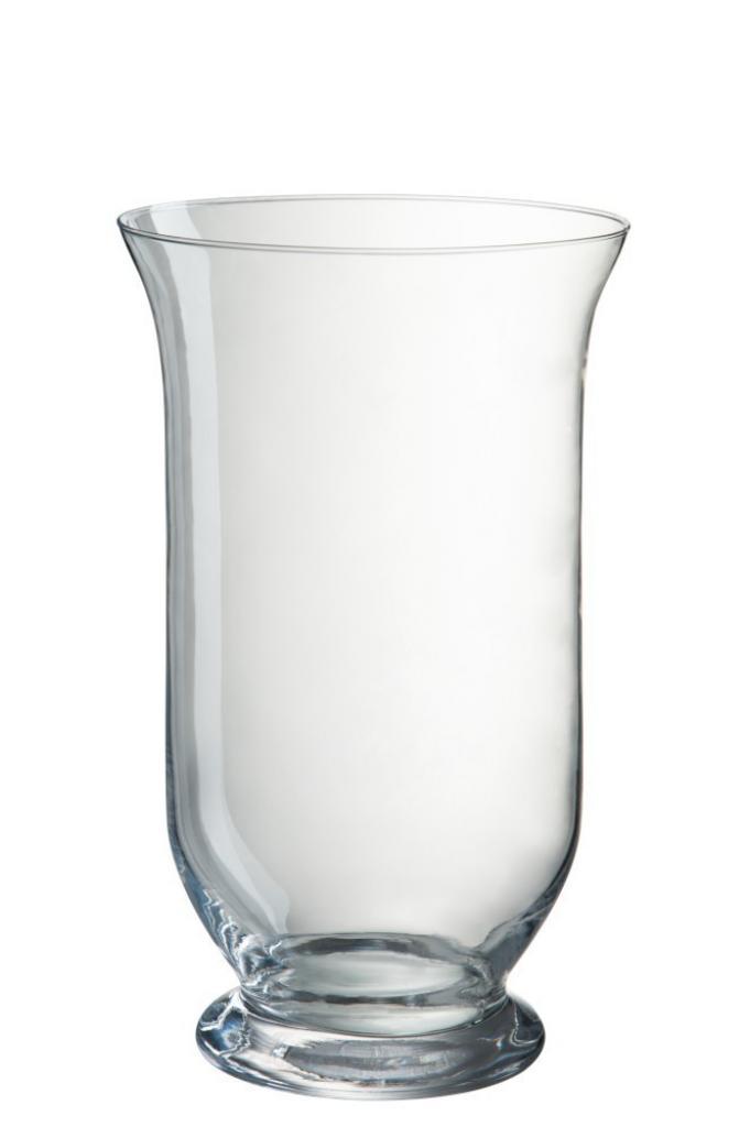 Produktové foto J-Line by Jolipa Transparentní skleněná váza Hurricane - Ø15*25 cm