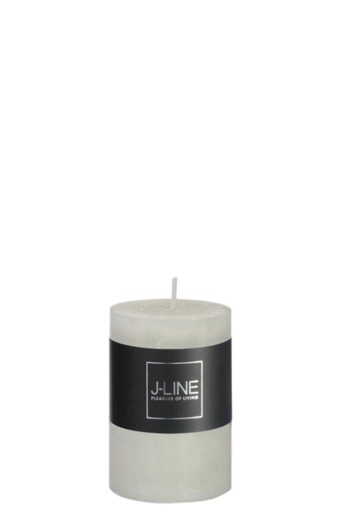 Produktové foto J-Line by Jolipa Zelená nevonná svíčka S válec -  Ø 5*7,5 cm/18H