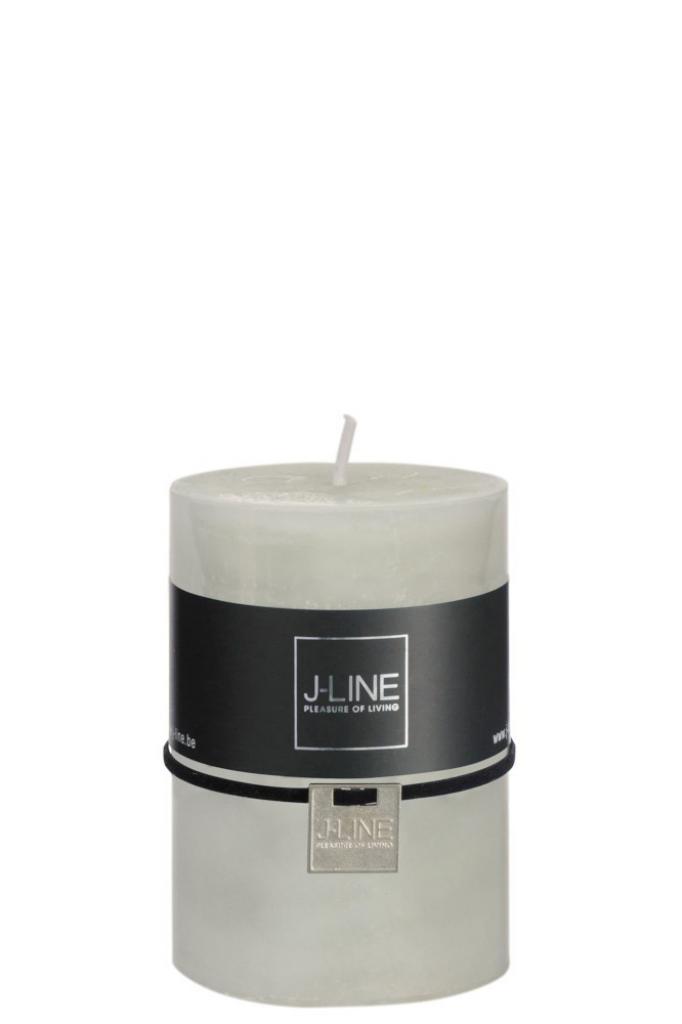 Produktové foto J-Line by Jolipa Zelená nevonná svíčka M válec -  Ø 7*10 cm/48H