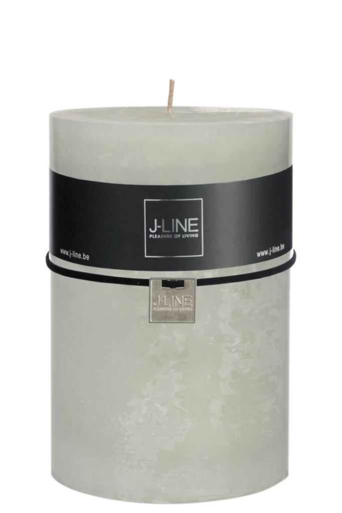 Produktové foto J-Line by Jolipa Zelená nevonná svíčka XXL válec -  Ø  10*15 cm/120H