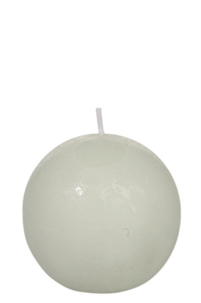 Produktové foto J-Line by Jolipa Kulatá zelená nevonná svíčka L  - Ø  8,5*8,5 cm/40H