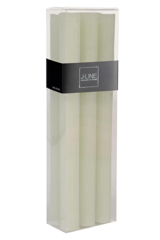 Produktové foto J-Line by Jolipa Box 6 zelených stolních svíček  -13H /24 cm